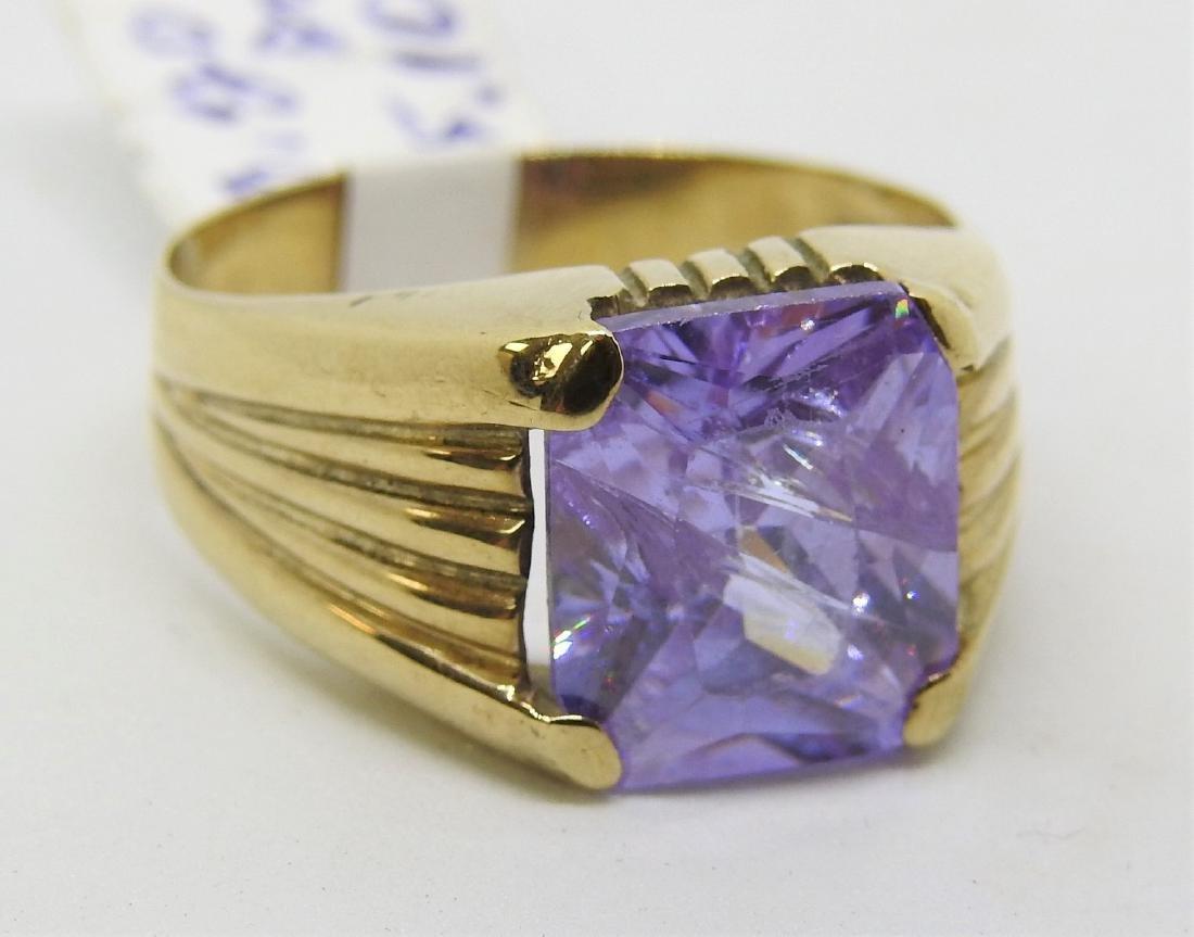 vintage gold mens ring