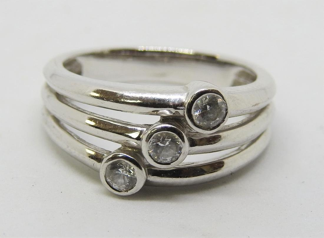 vintage MEDA white gold ring