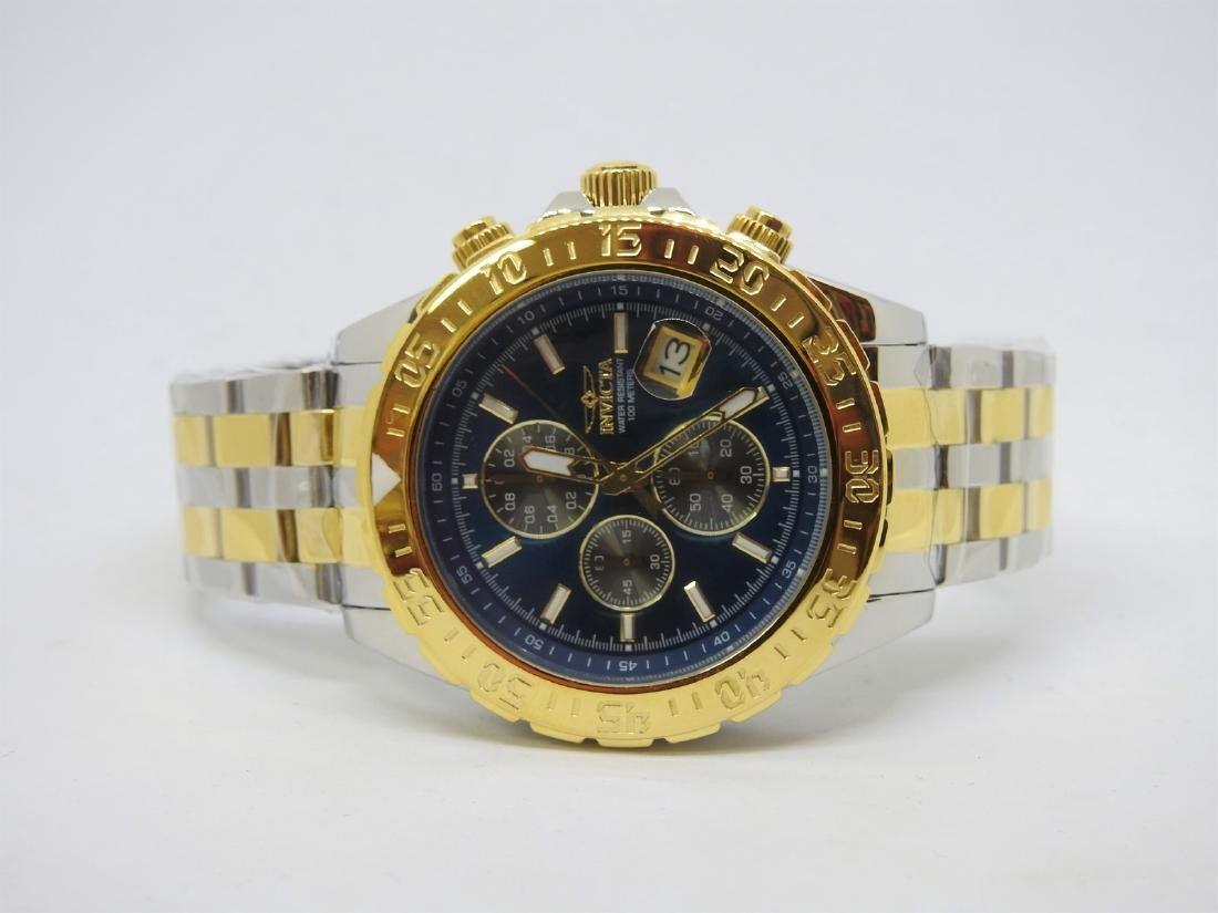 Invicta two tone chronograph watch