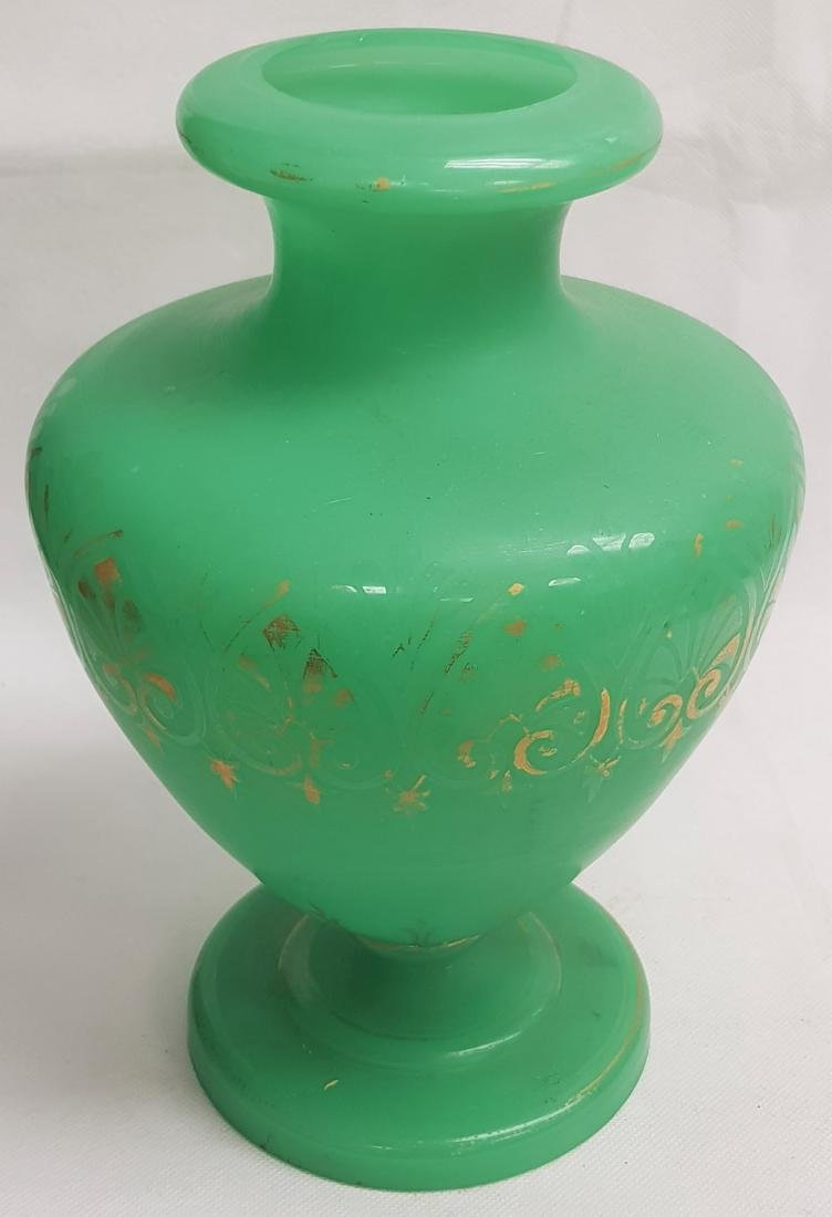 OPALINE GREEN GLASS VASE