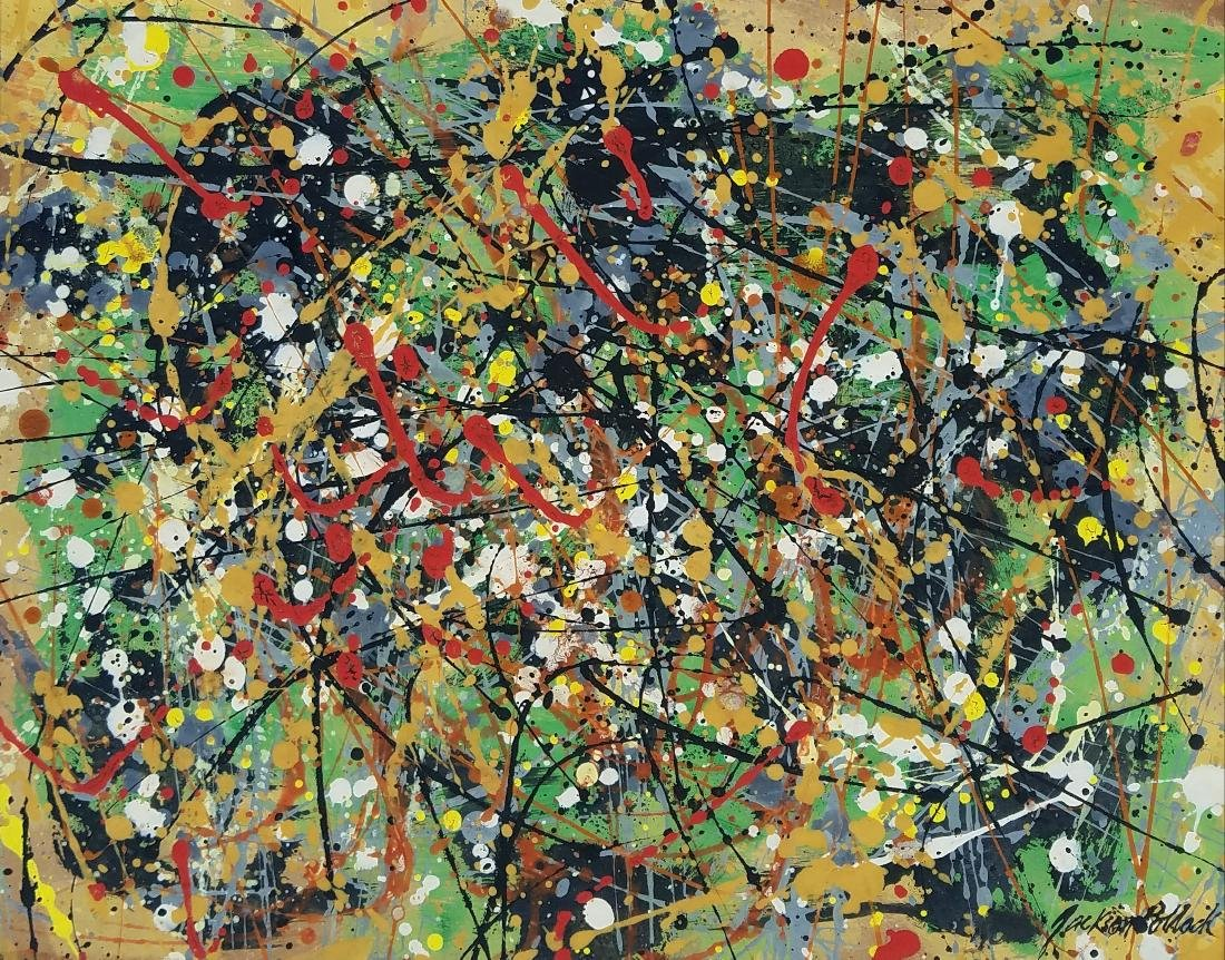 Mixed Media on Ppaer signed Jackson Pollock