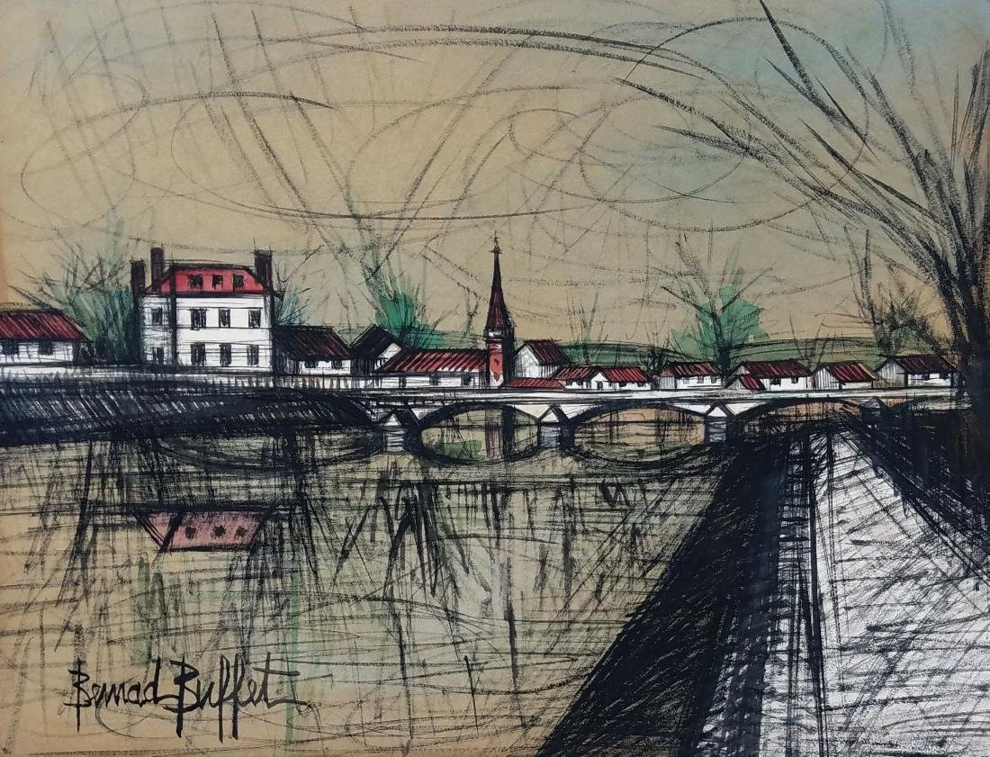 Watercolor And Ink On Paper Signed Bernard Buffet