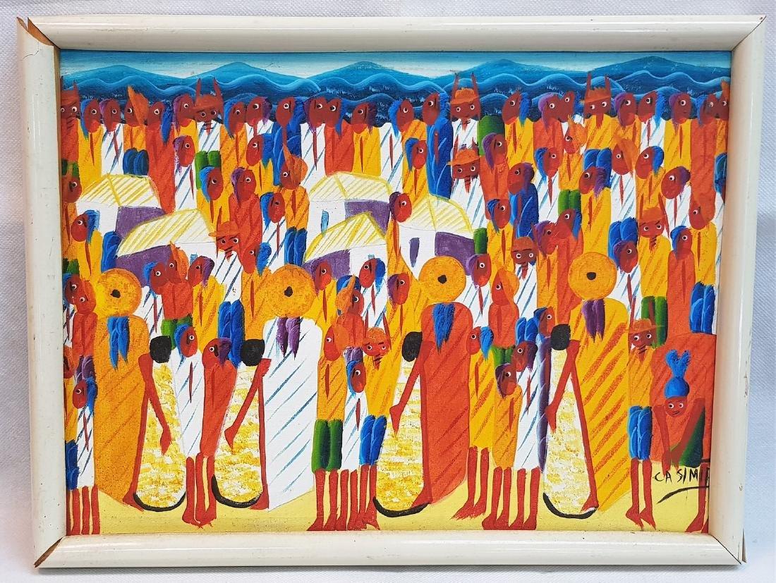 CASIMIR ACRYLIC ON CANVAS HAITIAN ART