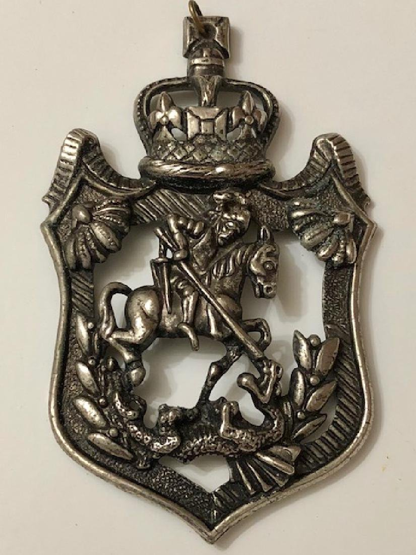 RARE Antique Silver St. George of England Slaying