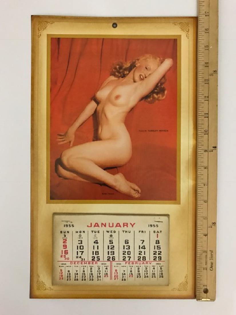 1955 Marilyn Monroe Nude/Risqué Golden Dreams Calendar