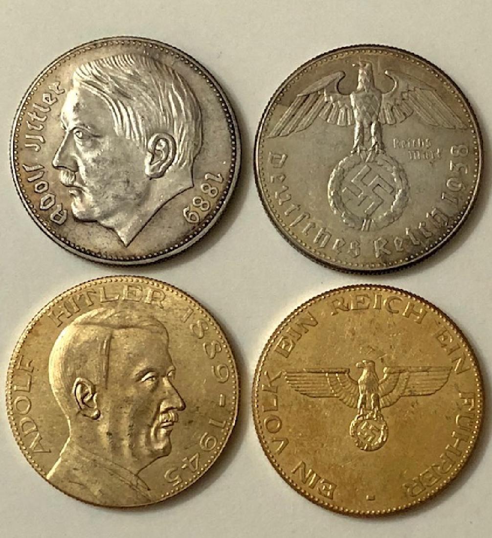 Lot of 2 ADOLF HITLER Dated 1938 & 1945 NAZI German