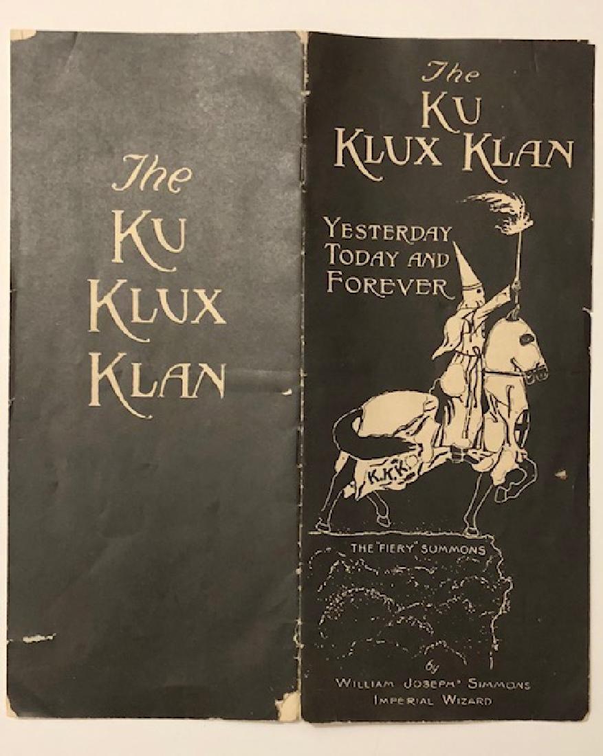Rare Authentic 1920'S KKK Ku Klux Klan Orientation