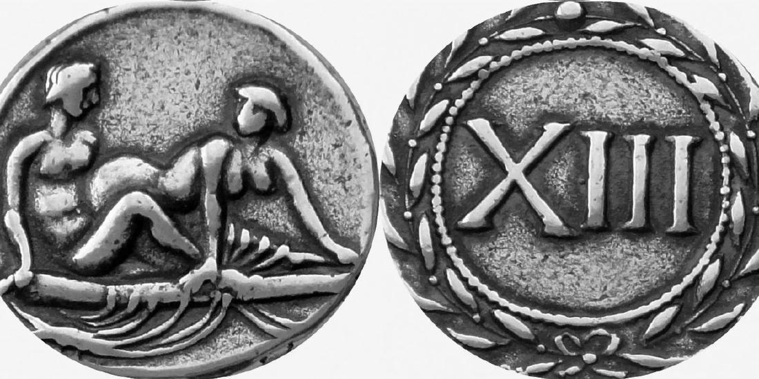 Rare 20-40 A.D. SPINTRIA Erotic Roman Brothel Token