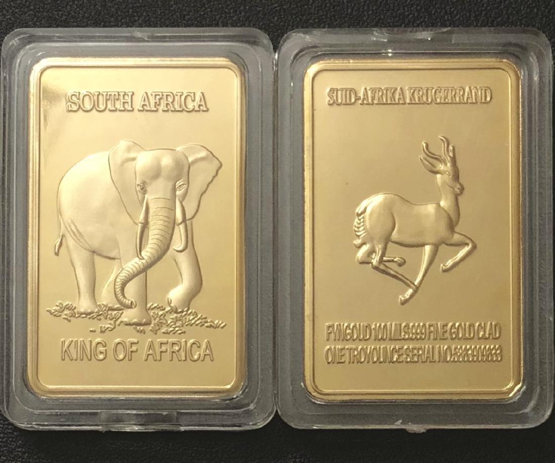 1 Troy .999 Fine Gold Clad South African Krugerrand