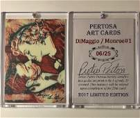 Rare Artist Hand Signed Marilyn Monroe & Joe DiMaggio