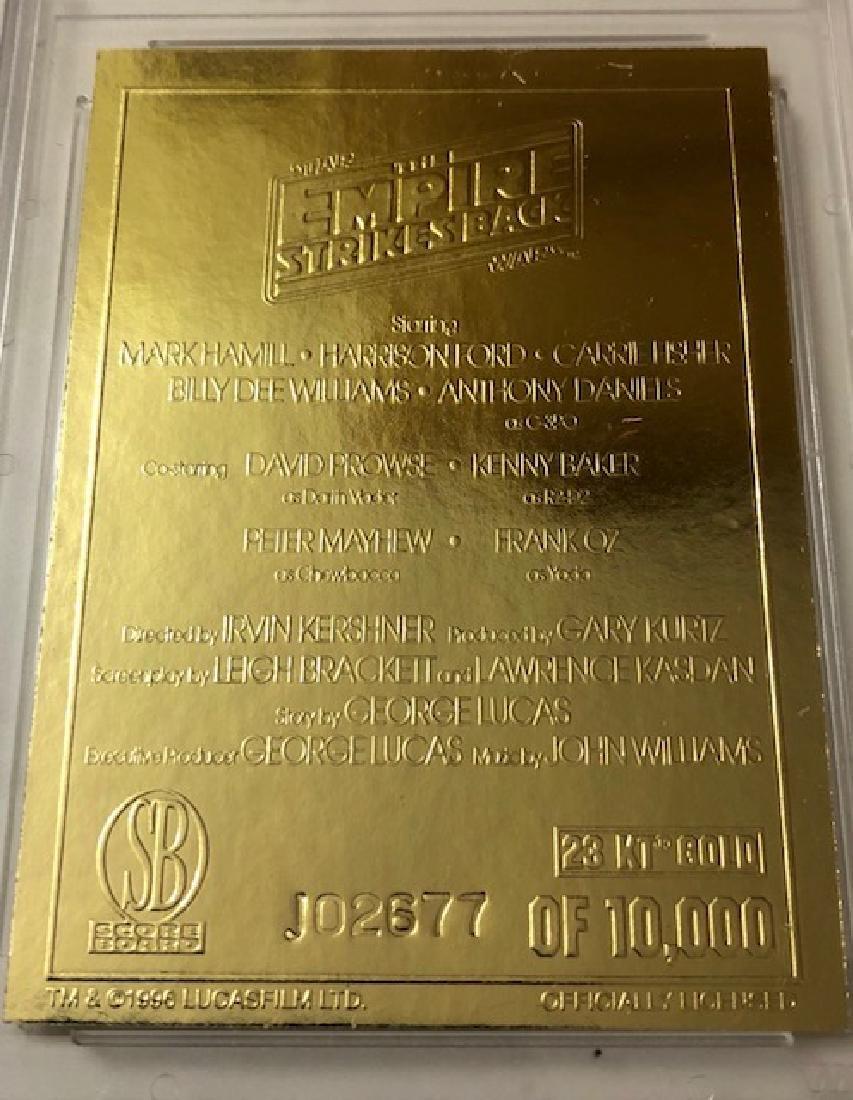 "Rare 23kt Gold STAR WARS ""Empire Strikes Back"" Movie - 2"