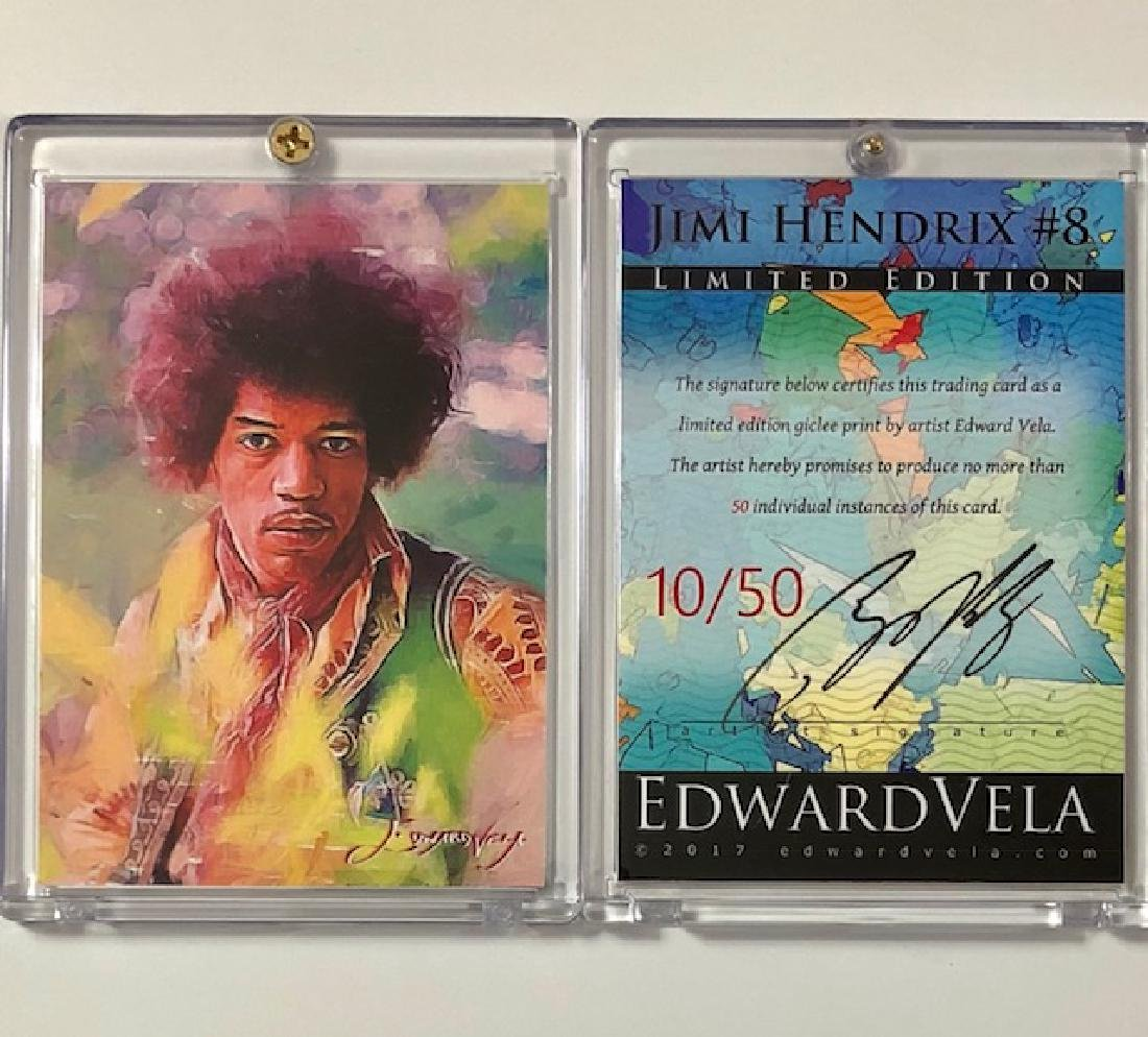 Awesome JIMI HENDRIX Hand Signed by Artist Trading Card