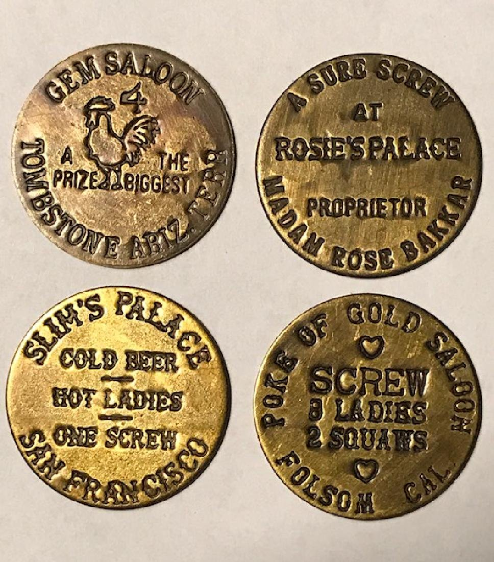 Lot of 4 Different Old Wild West Whorehouse Brothel