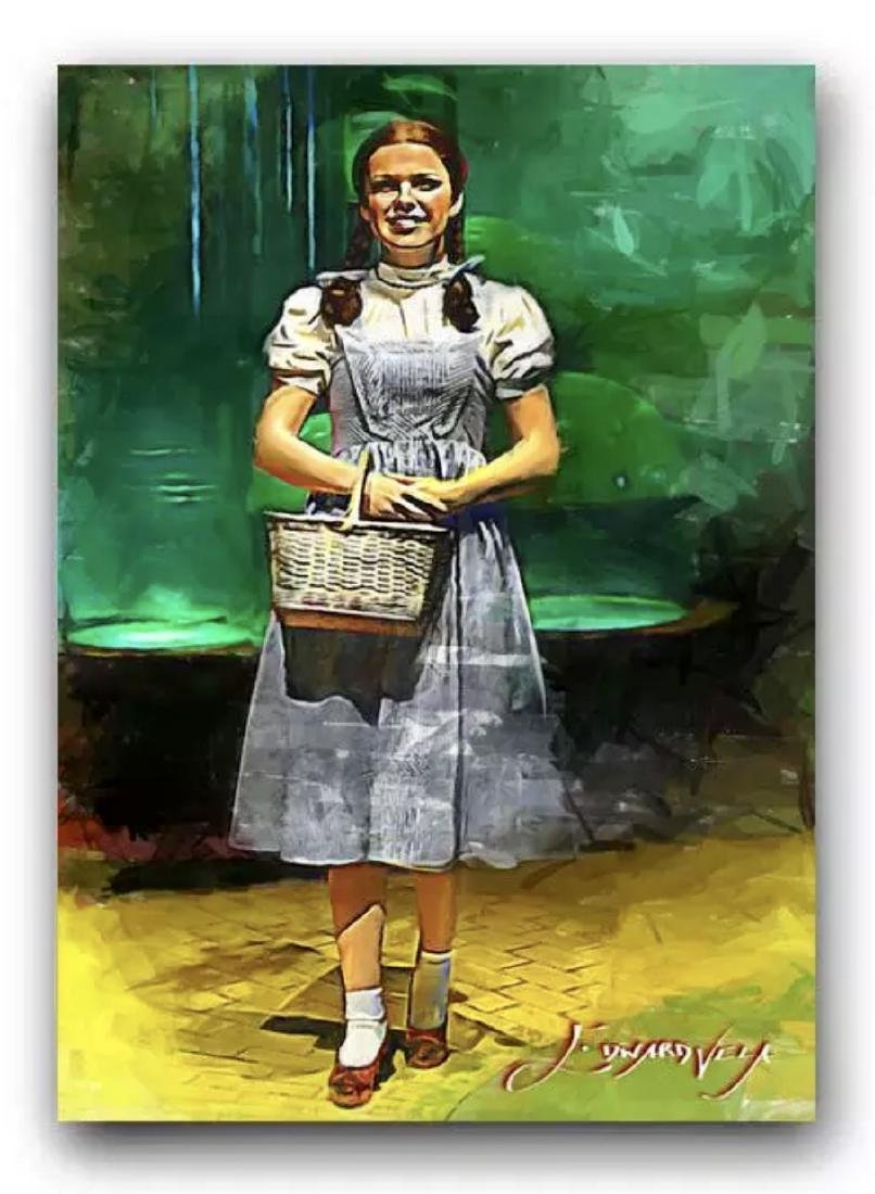 "The Wizard of Oz ""DOROTHY"" Hand Signed by Artist Sketch"