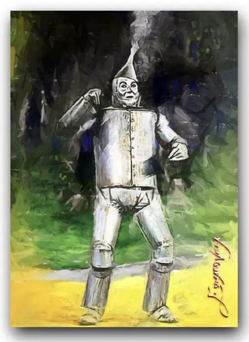 "The Wizard of Oz ""TIN MAN"" Hand Signed by Artist Sketch"
