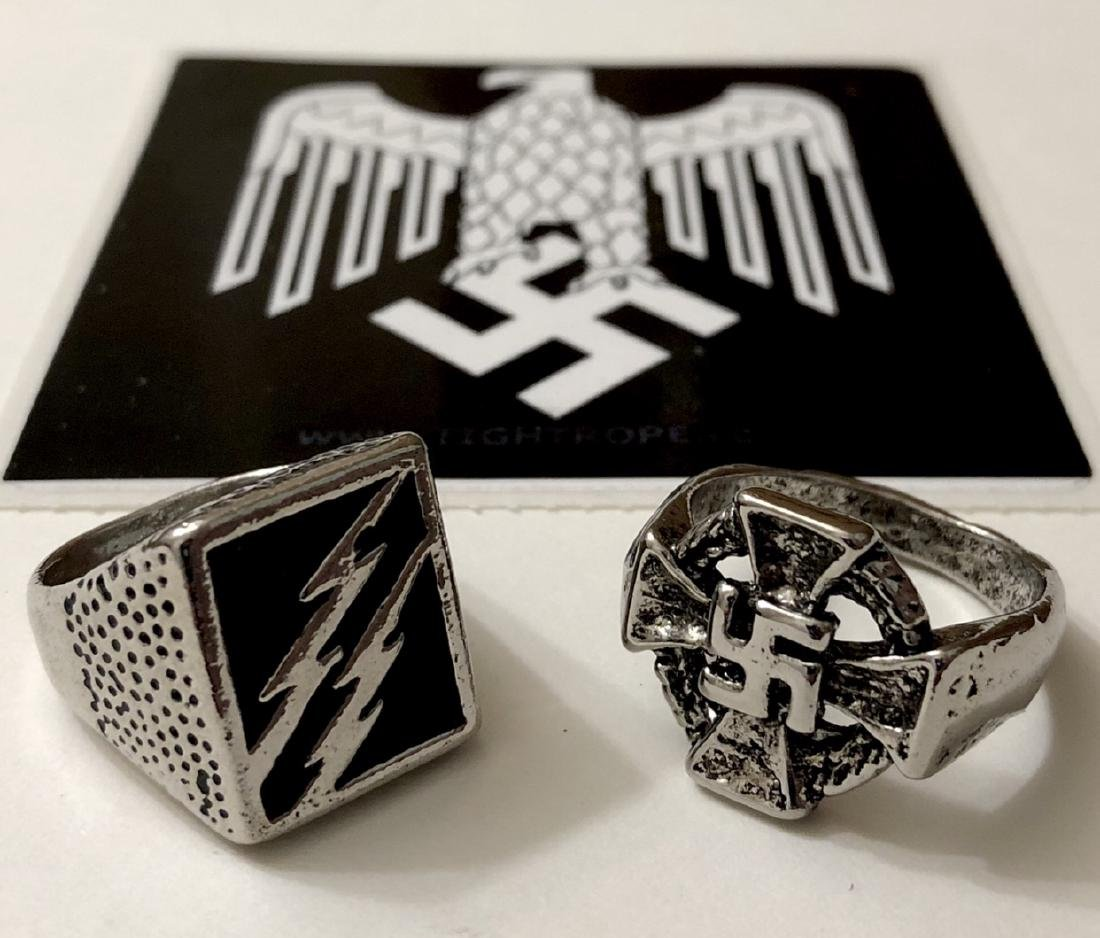 Lot of 2 Nazi Germany Trench Art Military Rings (1)