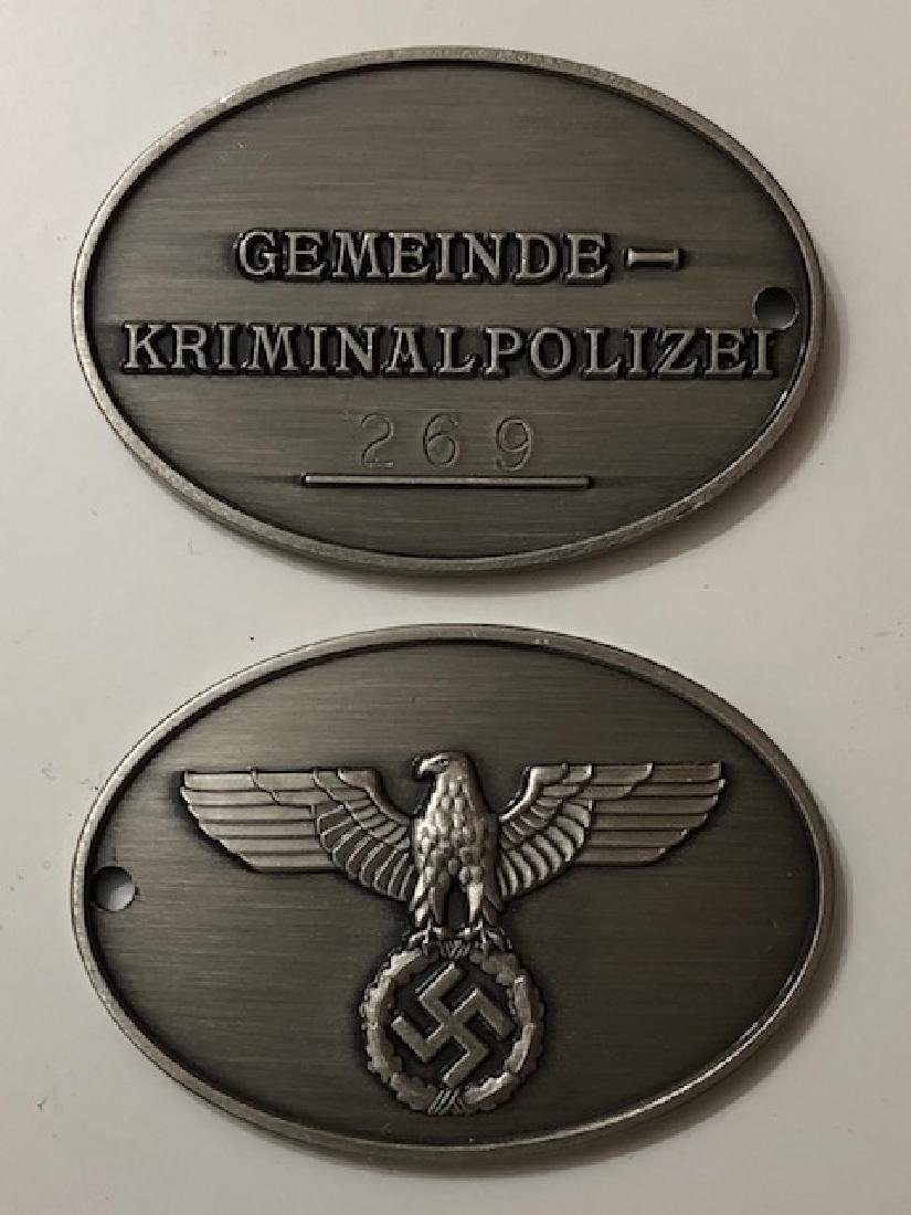 Nazi German Law Enforcement Agency I.D. Gestapo Disc