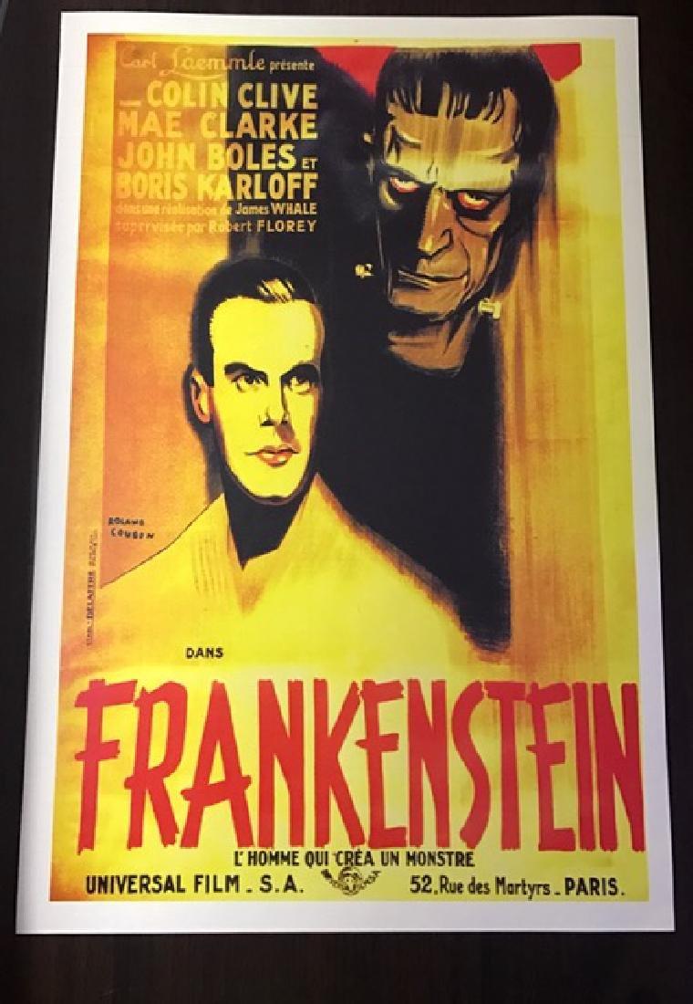 1931 Frankenstein Movie Theatre Lobby Card Poster