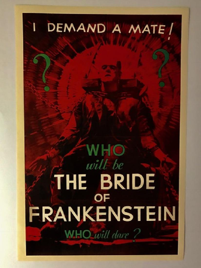 1935 The Bride of Frankenstein Movie Lobby Poster