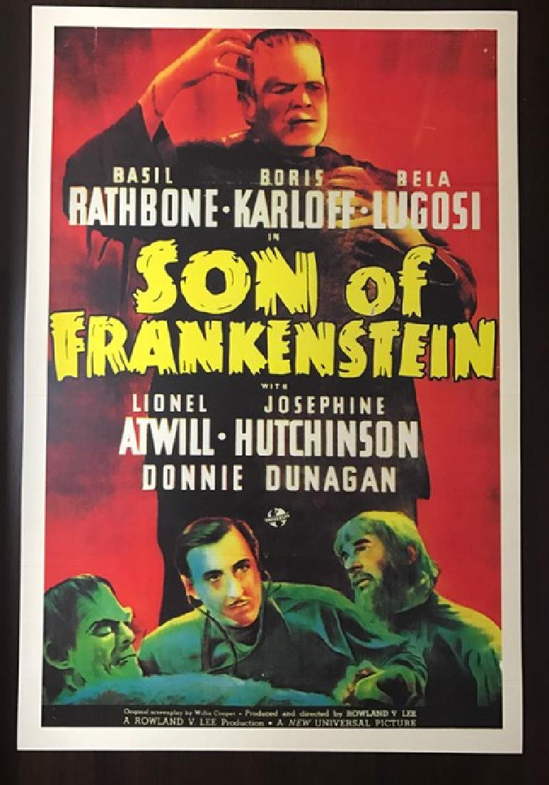 1939 The Son of Frankenstein Movie Lobby Poster
