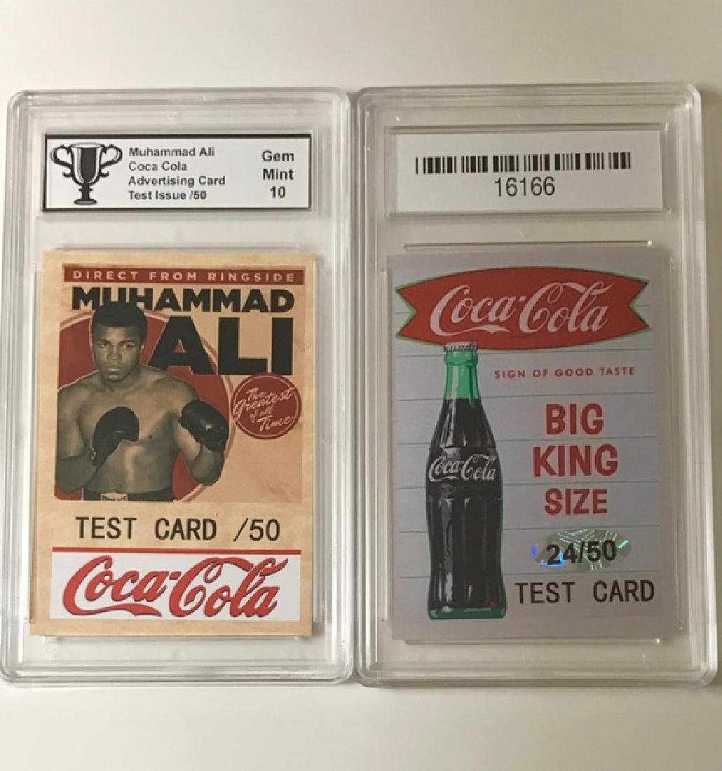 Rare MUHAMMAD ALI Coca-Cola TEST Advertising Card