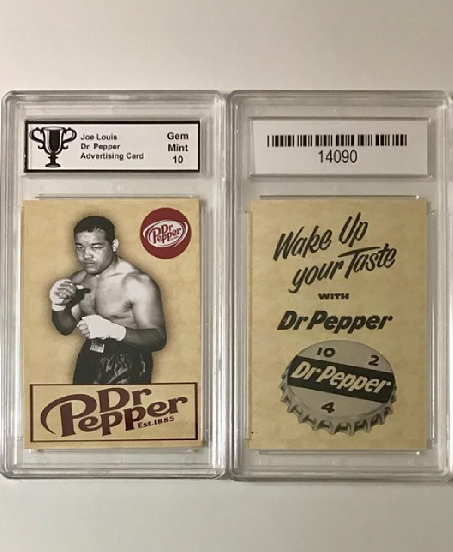 Rare JOE LOUIS Dr. Pepper Advertising Boxing Card
