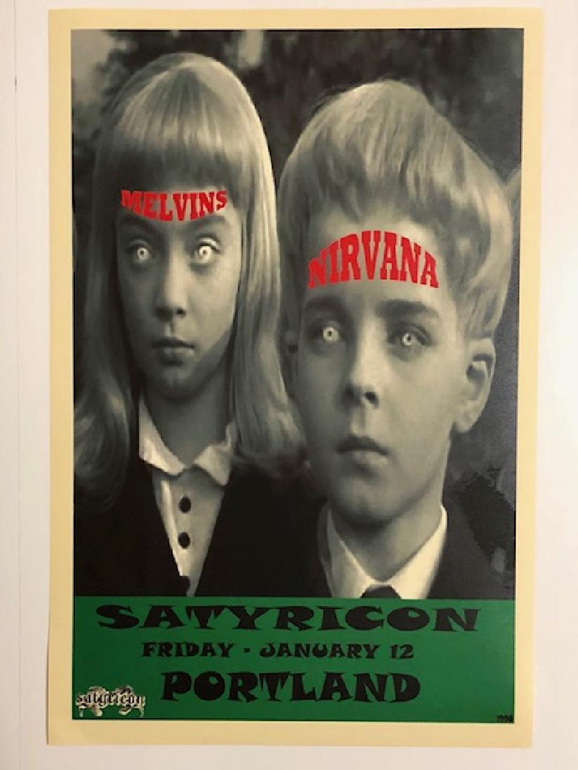 NIRVANA & MELVINS Concert Poster SATYRICON PORTLAND
