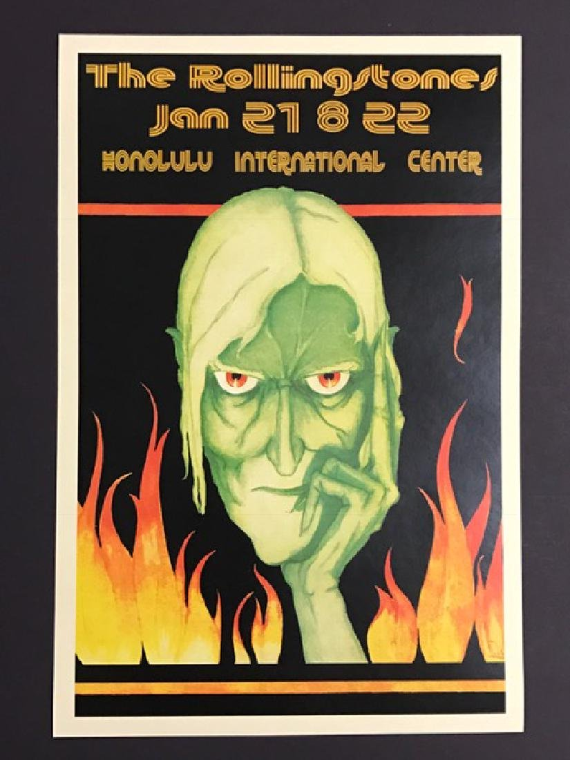 The ROLLING STONES Honolulu Hawaii Concert Poster