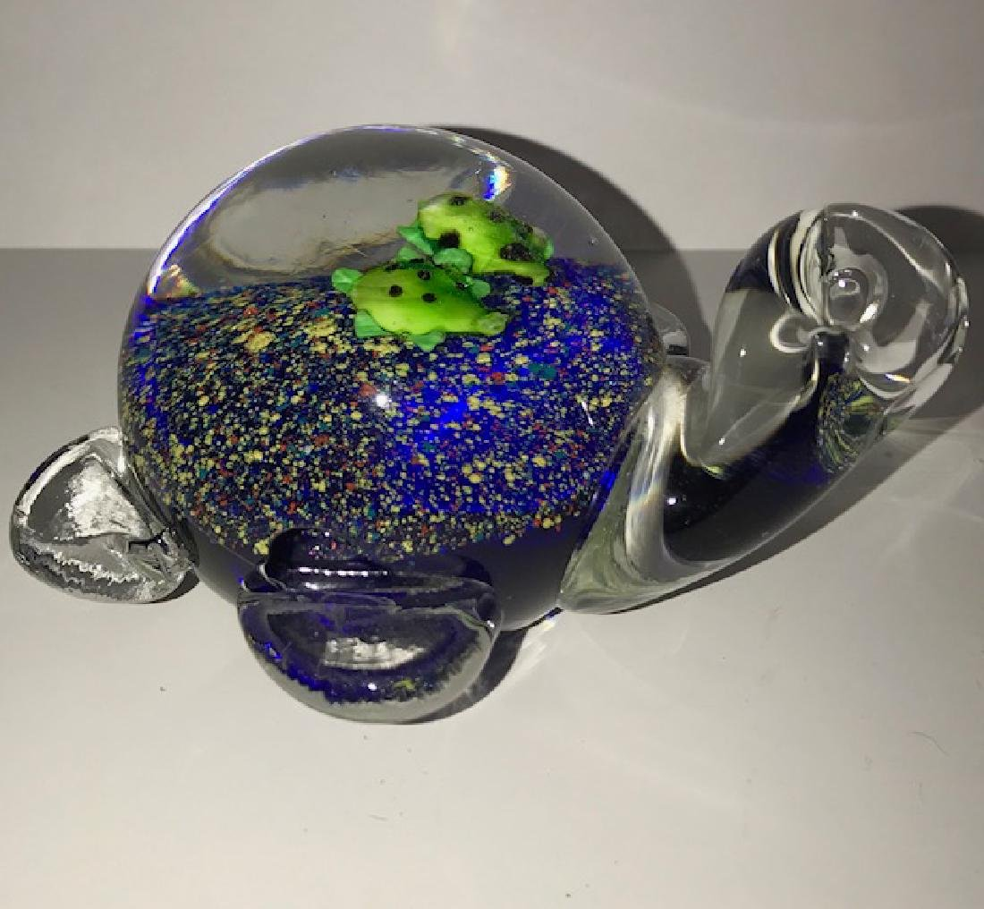 Vintage MURANO Multi-Color Art Glass Turtle