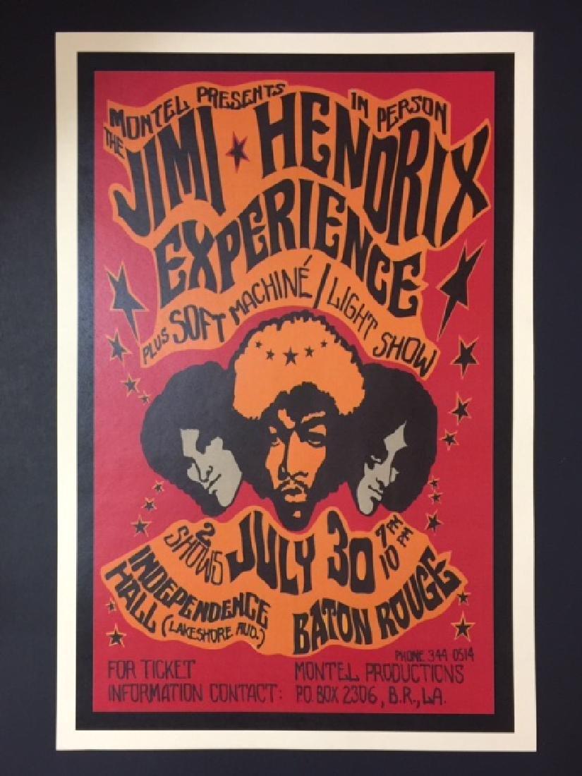 JIMI HENDRIX Baton Rouge Louisiana Concert Poster