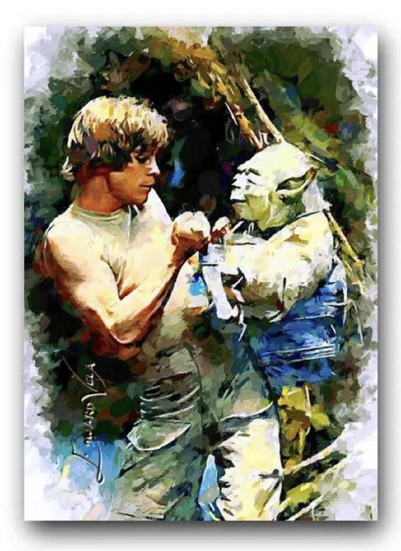 Star Wars LUKE SKYWALKER & YODA - LTD. Edition Sketch