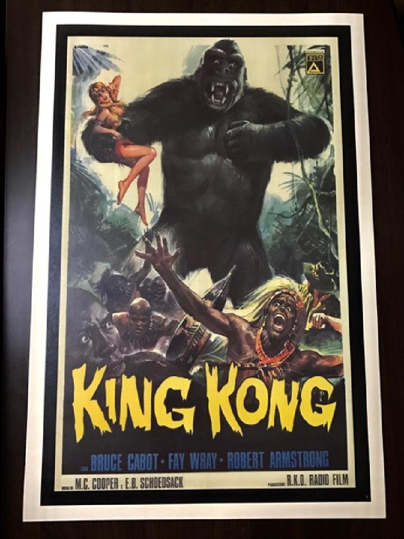 1933 KING KONG Movie Theatre Lobby Card Poster