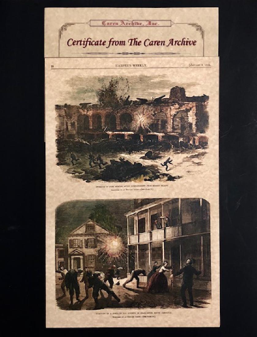 1864 Civil War Harper's Weekly Newspaper Cover w/COA