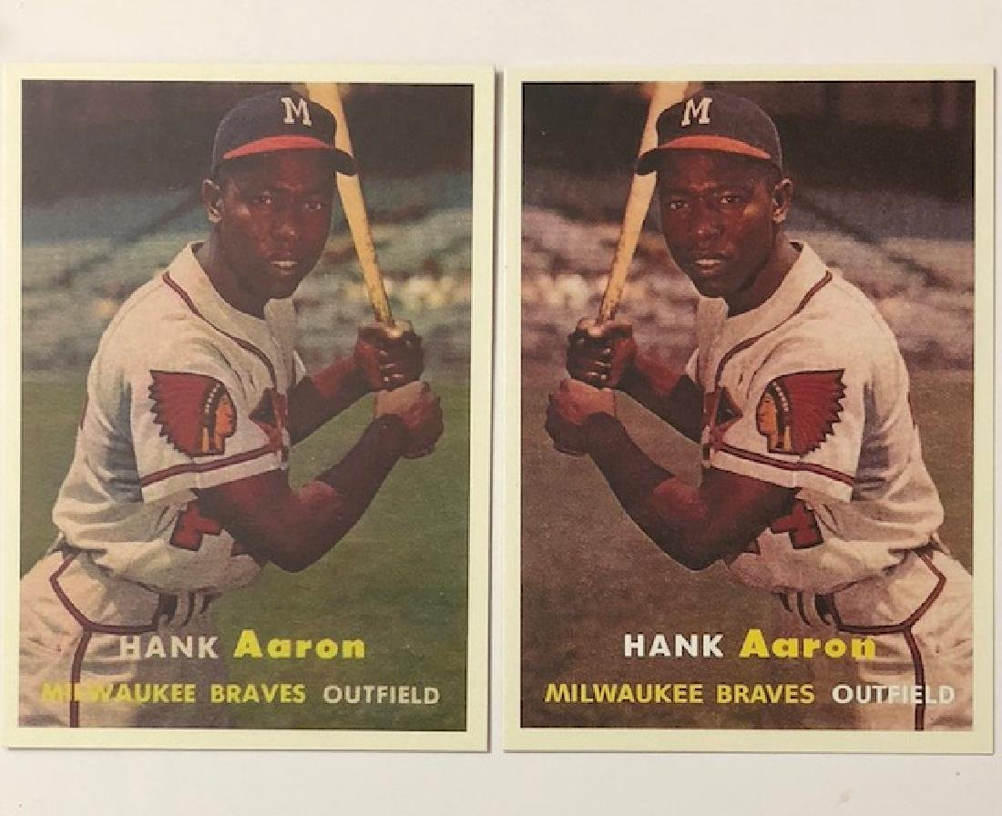 1957 Hank Aaron ERROR & Corrected Variation Baseball