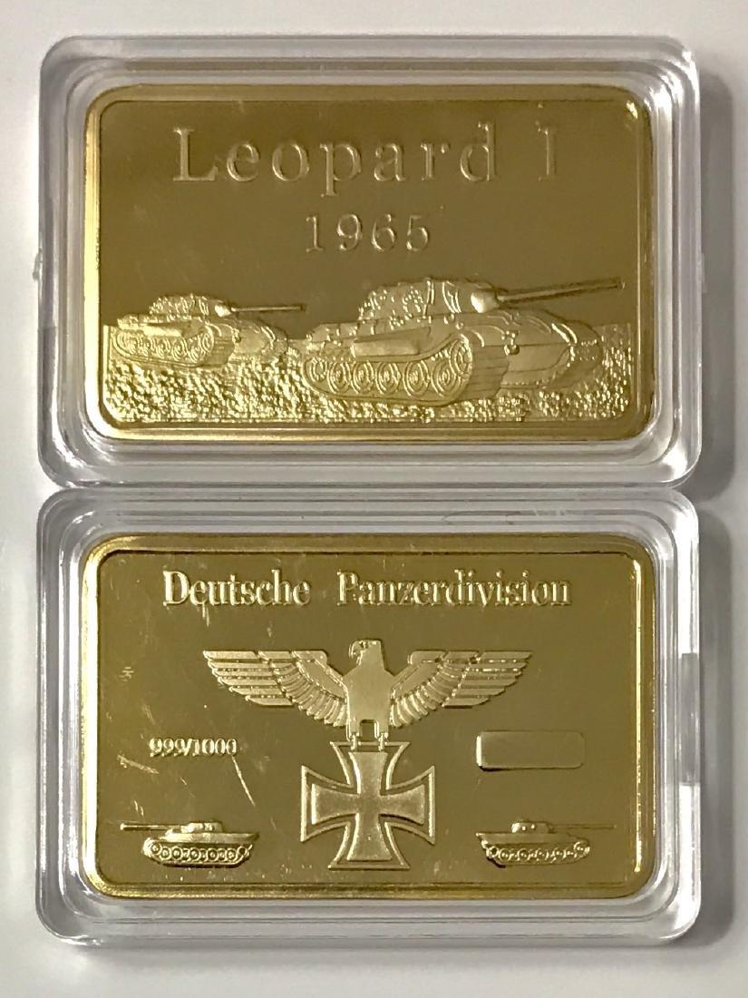 1oz .999 Gold Clad WW2 Nazi Panzer Division Bullion Bar