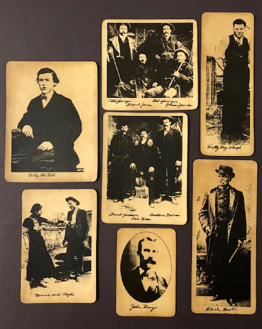 Lot of 7 Notorious Old West Outlaws & Gangster Stock