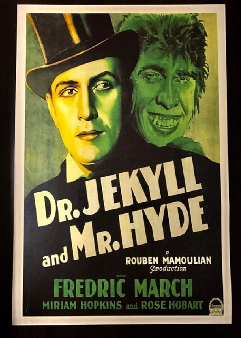 Dr. Jekyll & Mr. Hyde Movie Theater Lobby Card Poster