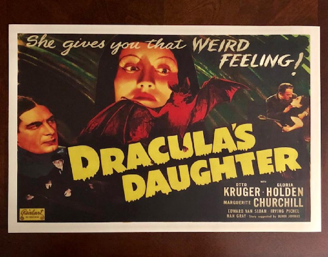 1936 Dracula's Daughter Movie Theater Lobby Poster