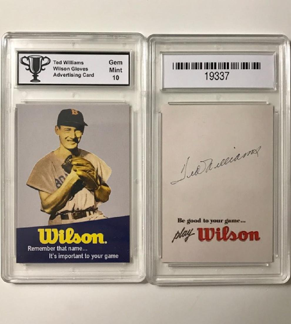 Gem 10 TED WILLIAMS Advertising Baseball Card