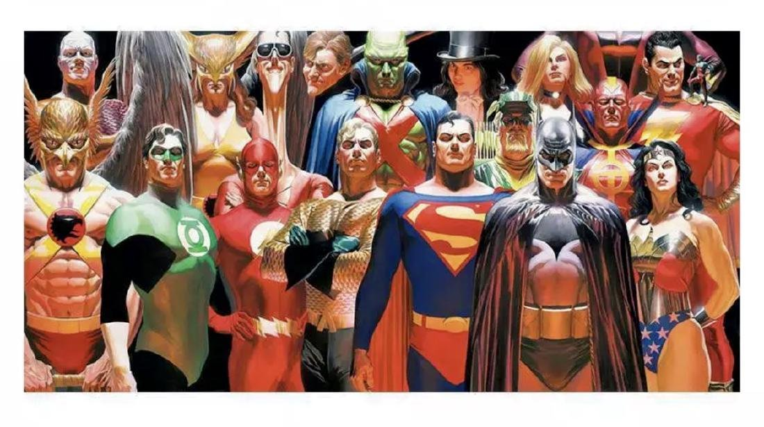 DC Comics JUSTICE LEAGUE Giclée Art Painting on Canvas