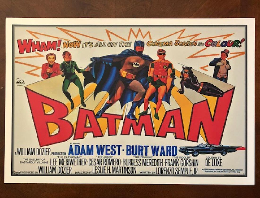 BATMAN Big Screen Debut Movie Theater Lobby Card Poster