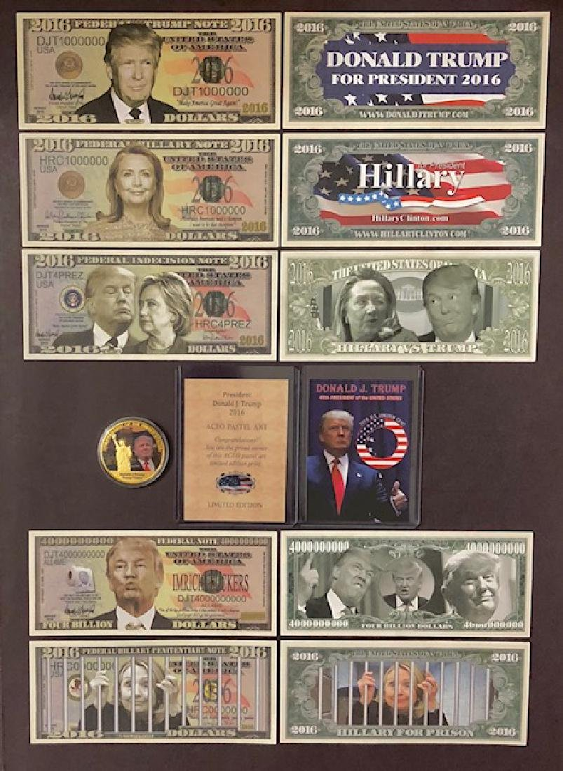 DONALD TRUMP Presidential Campaign Collectibles Lot