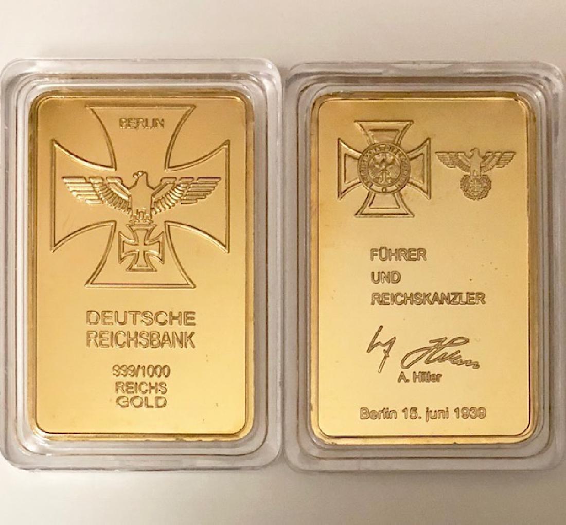 ADOLF HITLER .999/1000 Gold Clad Signature Bar