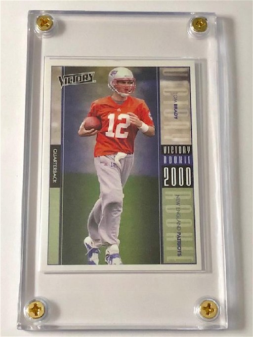 2000 Upper Deck Victory Tom Brady Rookie Football Card