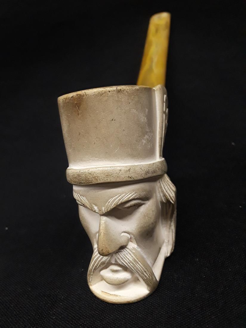 Vintage Hand Carved Figural Meerschaum Pipe
