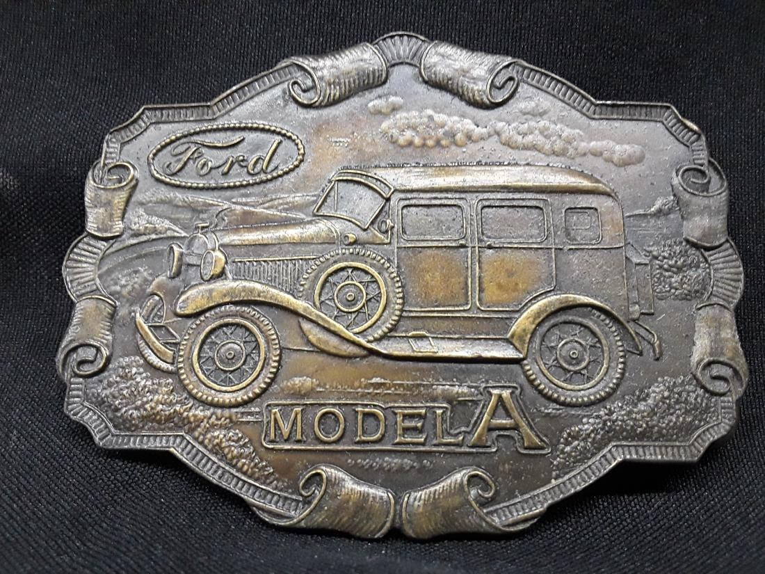 Vintage Bronze Ford Model A Belt Buckle
