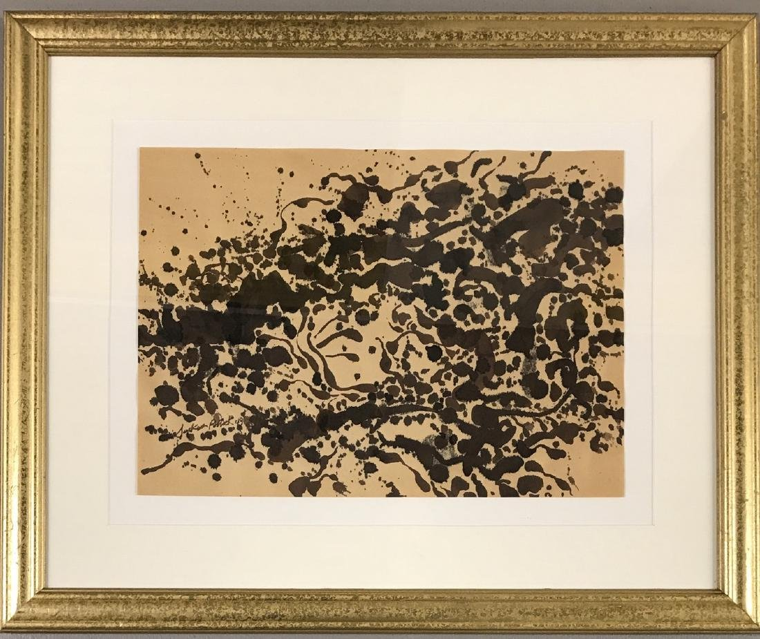 INK ON PAPER SIGNED JACKSON POLLOCK