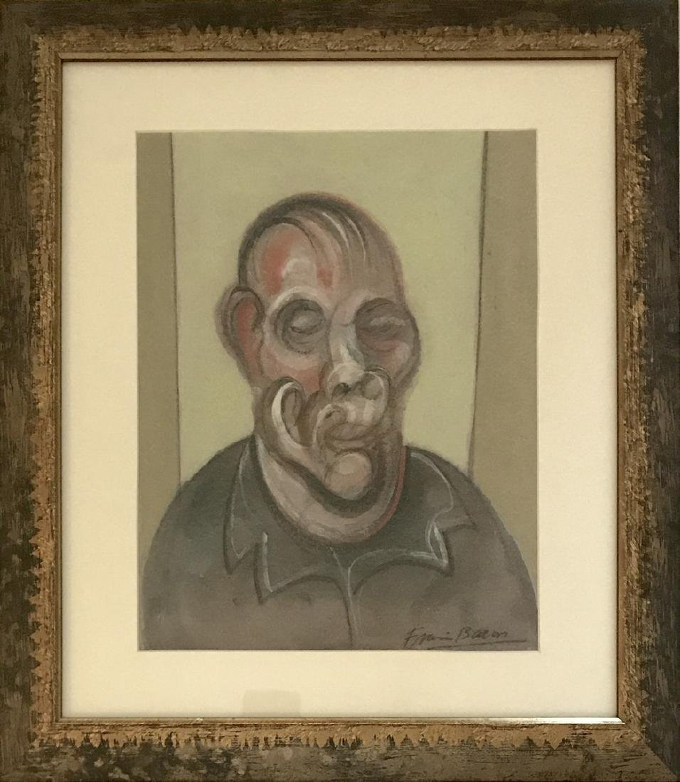 GOUACHE ON PAPER SIGNED FRANCIS BACON