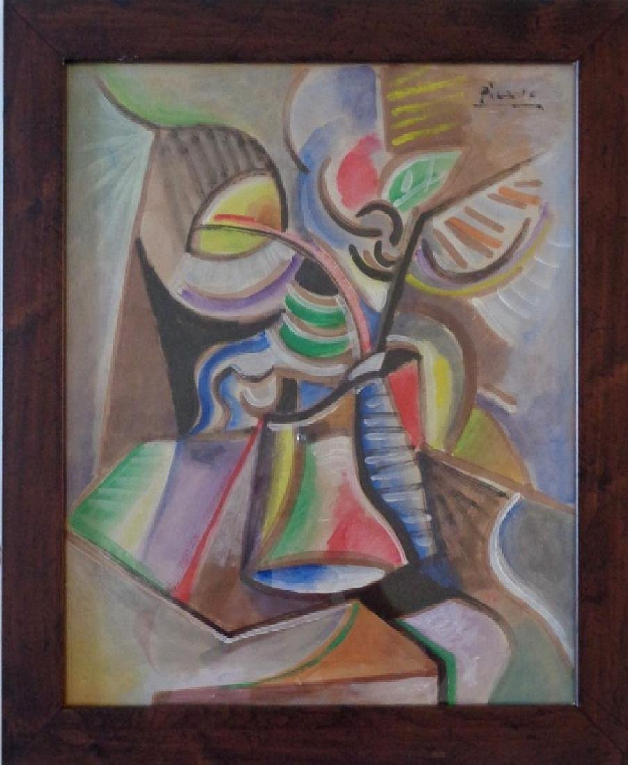 PICASSO GOUACHE ON PAPER