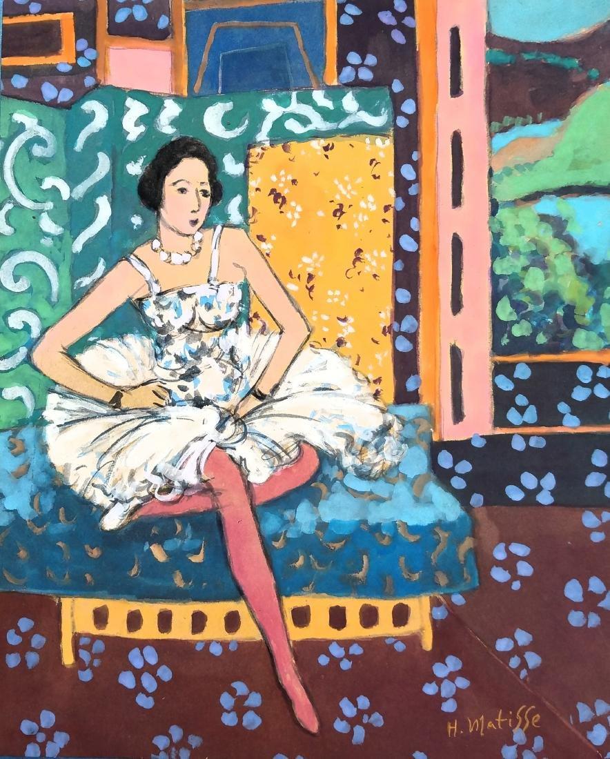 H Matisse watercolor on paper